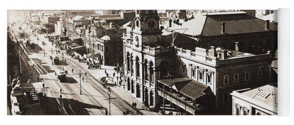 1928 Vintage Adelaide City Landscape Yoga Mat