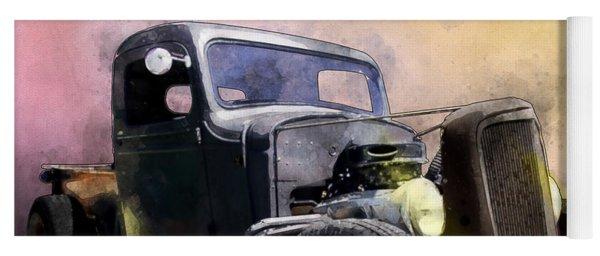 1936 Chevy Rat Rod Pickup Watercolour Yoga Mat