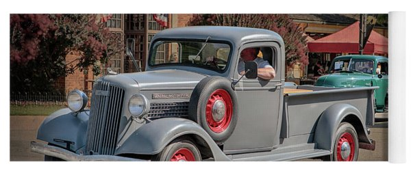 Yoga Mat featuring the photograph 1936 Gmc T-14 Pickup  by Susan Rissi Tregoning