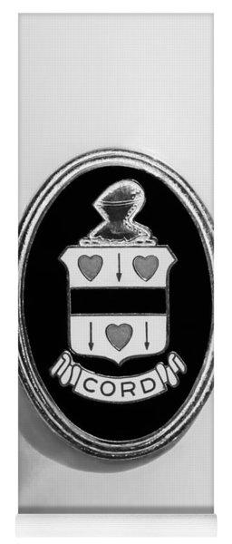 1937 Cord 812 Sc Phaeton Emblem -1203bw3 Yoga Mat