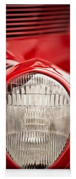 1937 Ford Headlight Detail Yoga Mat