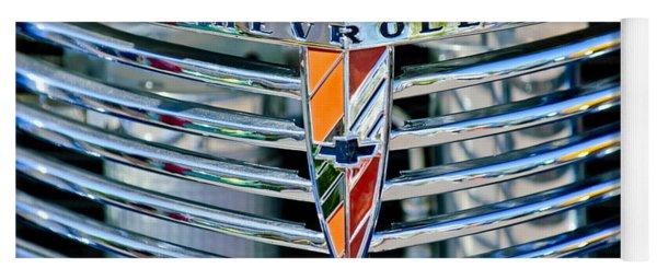 1939 Chevrolet Coupe Grille Emblem Yoga Mat