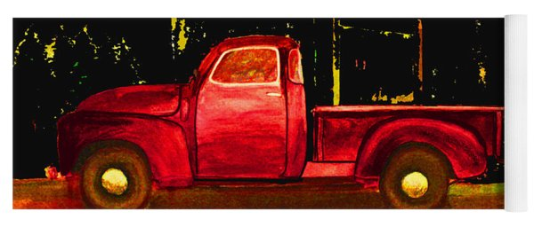 1949 Chevy Pickup Neon Yoga Mat