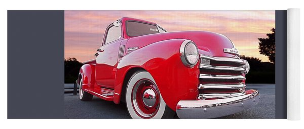 1950 Chevy Pick Up At Sunset Yoga Mat