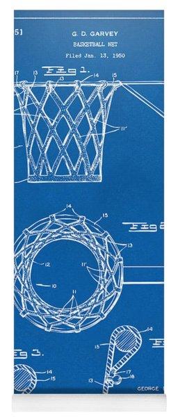 1951 Basketball Net Patent Artwork - Blueprint Yoga Mat