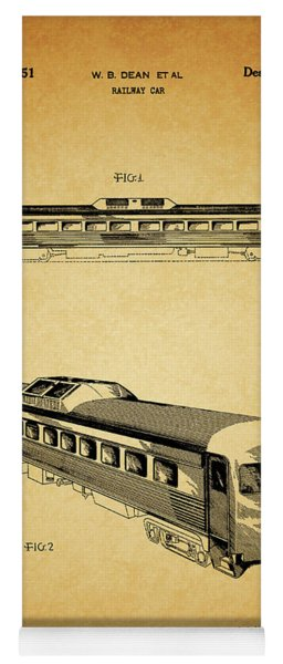1951 Railway Car Patent Yoga Mat