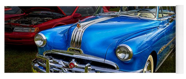 1952 Blue Pontiac Catalina Chiefton Classic Car Yoga Mat