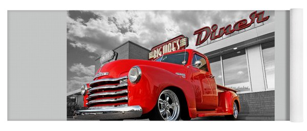 1952 Chevrolet Truck At The Diner Yoga Mat