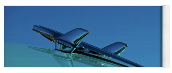 1956 Chevy Belair Hood Ornament Yoga Mat