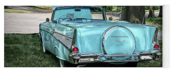 1957 Bel Air  Blue Convertible  Yoga Mat