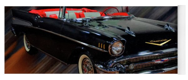 1957 Chevy Bel Air Convertible Digital Oil Yoga Mat