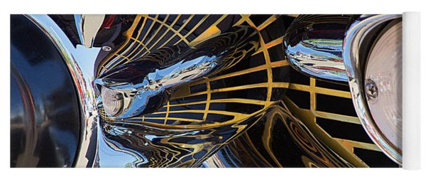 1957 Chevy Bel Air Grill Abstract 1 Yoga Mat