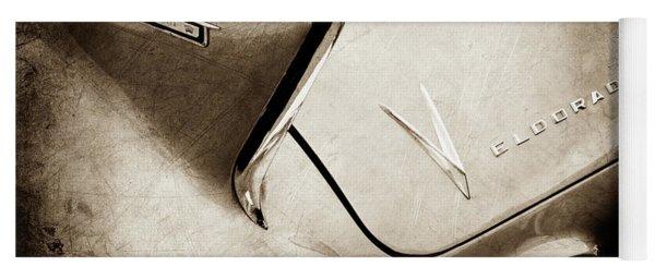 1958 Cadillac Eldorado Biarritz Taillight Emblems -0255s Yoga Mat