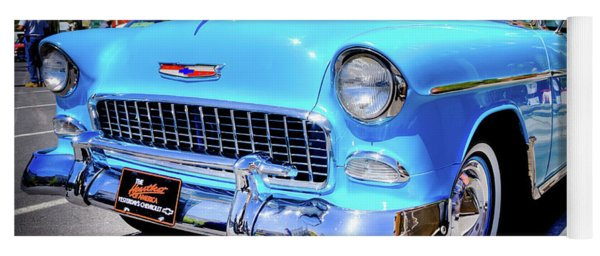 1955 Chevy Baby Blue Yoga Mat