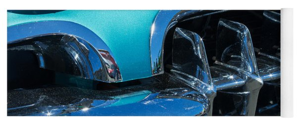 1960 Chevy Corvette Headlight And Grill Abstract Yoga Mat