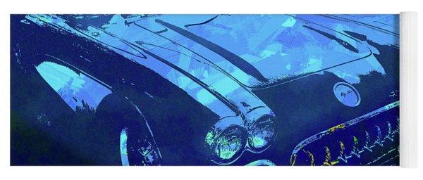 1960 Corvette Pop Blue Yoga Mat