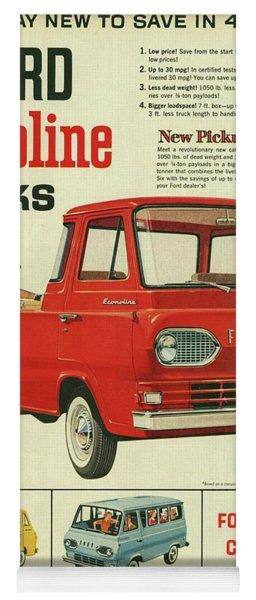 1961 Ford Econoline Vintage Ad Yoga Mat