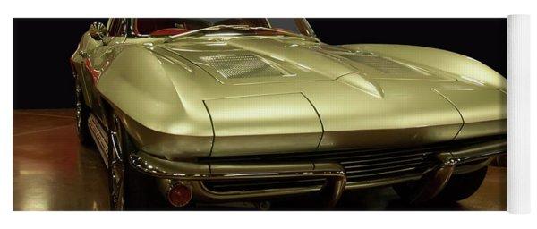 Yoga Mat featuring the photograph 1963 Chevrolet Corvette Split Window by Chris Flees