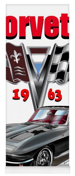 1963 Corvette With Split Rear Window Yoga Mat