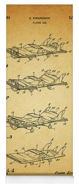 1963 Flying Car Patent Yoga Mat