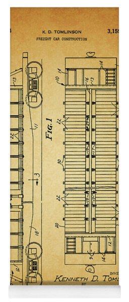 1964 Railroad Car Patent Yoga Mat