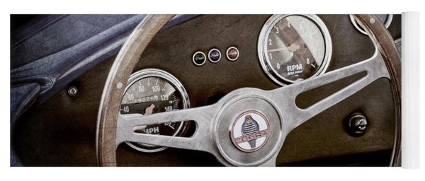 1965 Ac Cobra Steering Wheel Emblem -1216ac Yoga Mat
