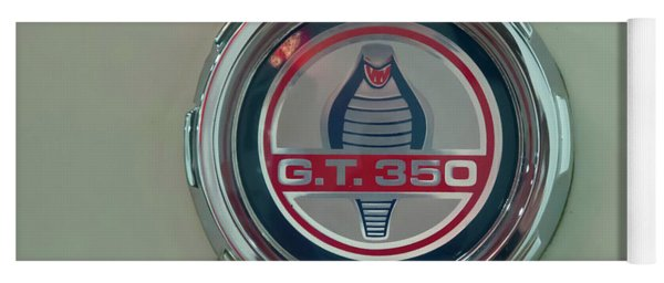 Yoga Mat featuring the photograph 1965 Shelby Gt 350 Filler Cap by Chris Flees