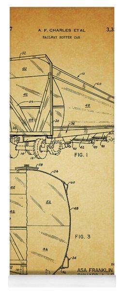 1967 Railway Hopper Car Yoga Mat