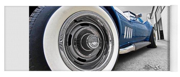 1968 Corvette White Wall Tires Yoga Mat
