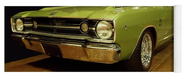 Yoga Mat featuring the photograph 1968 Dodge Dart Gts by Chris Flees