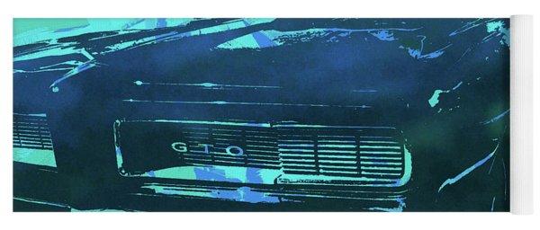 1969 Pontiac Gto Convertible Pop Blue Yoga Mat