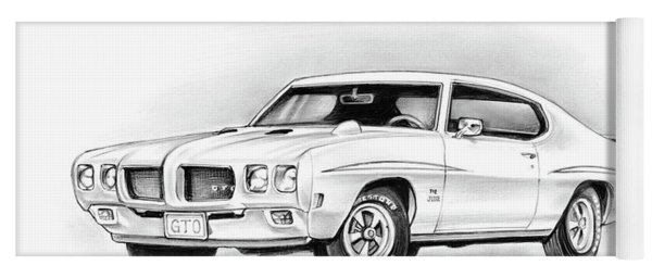 1970 Pontiac Gto Judge Yoga Mat