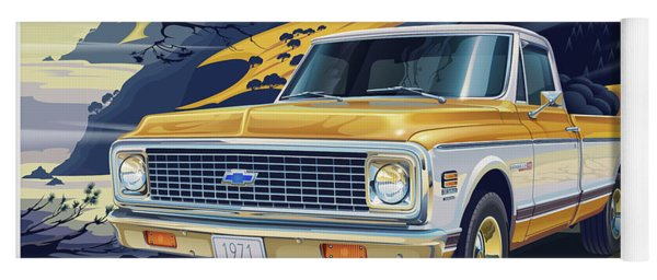 1971 Chevrolet C10 Cheyenne Fleetside 2wd Pickup Yoga Mat