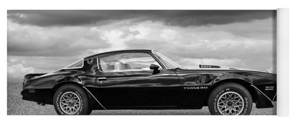 1978 Trans Am In Black And White Yoga Mat