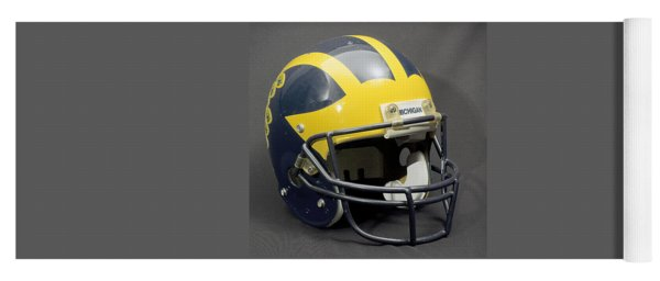 Yoga Mat featuring the photograph 1990s Wolverine Helmet by Michigan Helmet