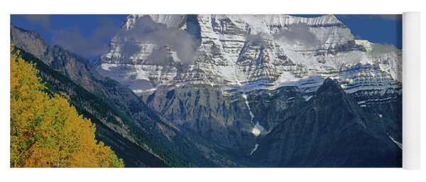 1m2441-h Mt. Robson And Yellowhead Highway H Yoga Mat