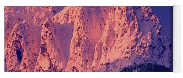 1m4503-a Three Peaks Of Mt. Index At Sunrise Yoga Mat