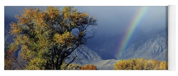 1m6345 Rainbow In Sierras Yoga Mat