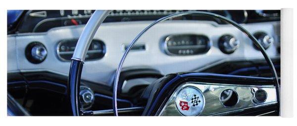 1958 Chevrolet Impala Steering Wheel Yoga Mat