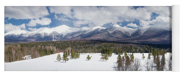 A Beautiful Panorama Of The Presidential Mountain Range In New H Yoga Mat
