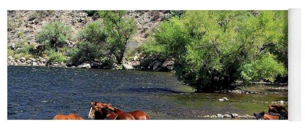 Arizona Wild Horses Yoga Mat