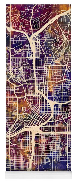 Atlanta Georgia City Map Yoga Mat