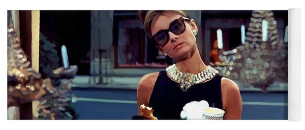 Audrey Hepburn @ Breakfast At Tiffanys Yoga Mat