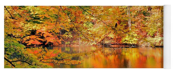 Autumn Reflections Yoga Mat
