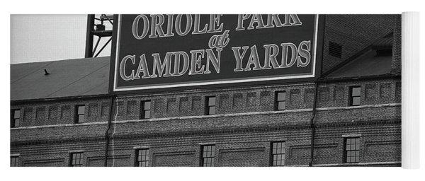 Baltimore Orioles Park At Camden Yards Bw Yoga Mat