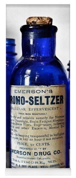 Bromo Seltzer Vintage Glass Bottles Collection Yoga Mat