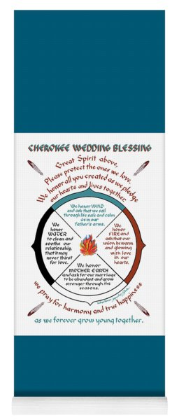 Cherokee Wedding Blessing Yoga Mat