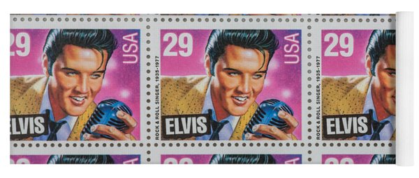 Elvis Commemorative Stamp January 8th 1993 Painted  Yoga Mat