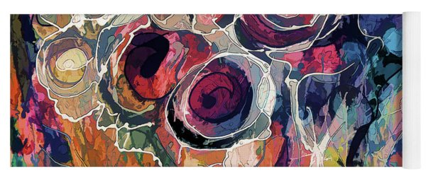 Floral Abstract  Yoga Mat