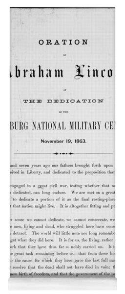 Gettysburg Address, 1863 Yoga Mat